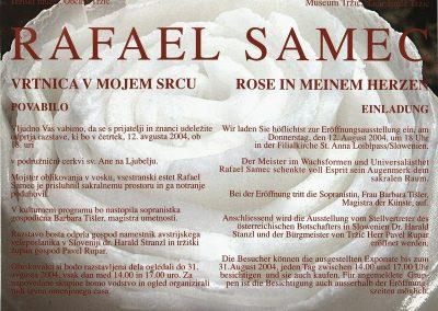 TM, 2004, Rafael Samec, Vrtnica v mojem srcu, vabilo na razstavo 3a