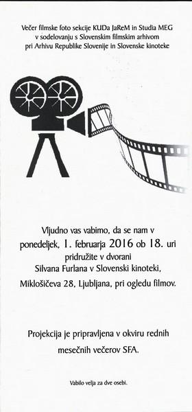 TM, Dokumentarni etnografski film Peče na slovenskem 2016 v okviru rednih mesečnih večerov SFA, avtor zloženke Bojan Knific zloženka 3a