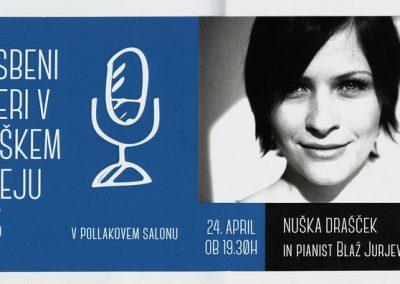 TM Glasbeni večeri 2015 NUŠKA DRAŠČEK IN PIANIST BLAŽ JURJEVČIČ vabilo 3a