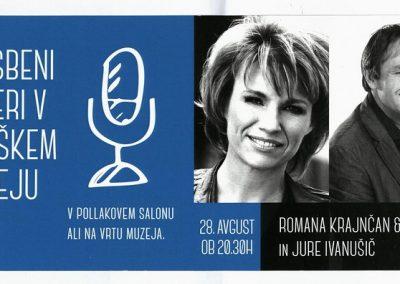 TM Glasbeni večeri 2015 ROMANA KRAJNČAN & BAND IN JURE IVANUŠIČ vabilo 3a