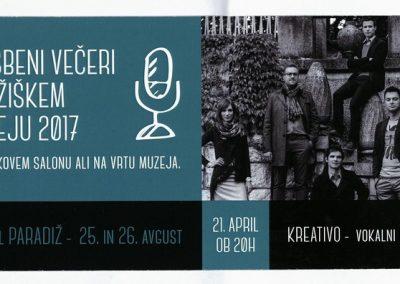 TM Glasbeni večeri 2017 KREATIVO - VOKALNI BAND vabilo 3a