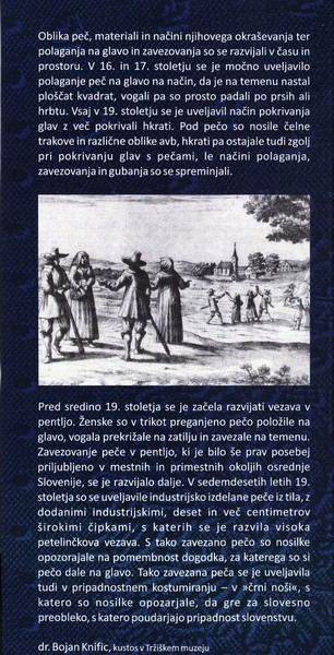 TM, Peče na slovenskem 2015 otvoritev razstave, avtor zloženke dr. Bojan Knific, zloženka 3b