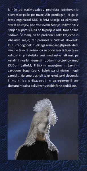 TM, Peče na slovenskem 2015 otvoritev razstave, avtor zloženke dr. Bojan Knific, zloženka 3c