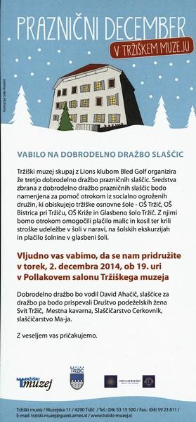 TM, Praznični december 2015 Dobrodelna dražba slaščic in voščilnic vabilo 3