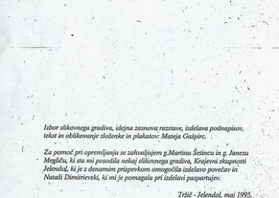 TM, ZKI, 23. mednarodni dnevi mineralov, fosilov in okolja 1995 razstava Bornovi v Puterhofu, zloženka 3d