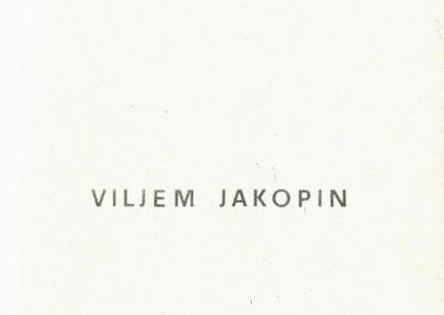 Tržiški muzej 1969 6. samostojna razstava Vilijem Jakopin vabilo 3b