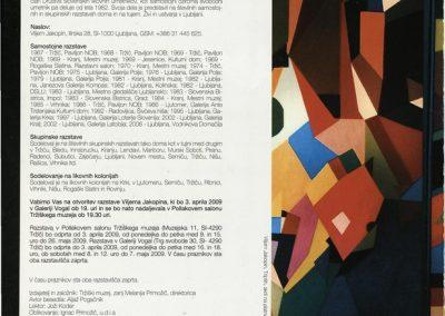 Tržiški muzej 2009 Vilijem Jakopin, razstava ob 70-letnici katalog razstave 3b