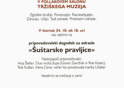 Tržiški muzej Muzejski večer pripovedovalski dogodek za odrasla, Šuštarske pravljice vabilo 3c