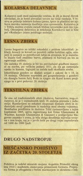 Tržiški muzej Zavod za kulturo in izobraževanje Tržič zloženka 3b