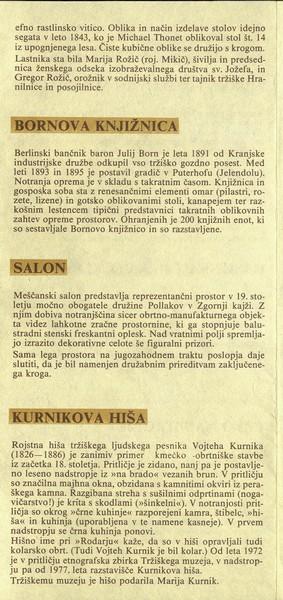 Tržiški muzej Zavod za kulturo in izobraževanje Tržič zloženka 3c